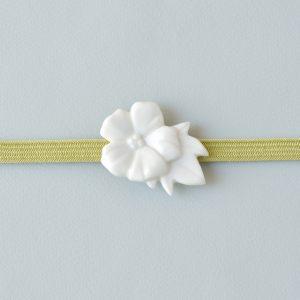 白磁の帯留め 芙蓉